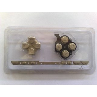 PSP Slim & Lite (2004) Tasten- - Button in gold & Porto