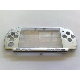 PSP Slim Faceplate / Abdeckung in grau metallic inkl. Displays.