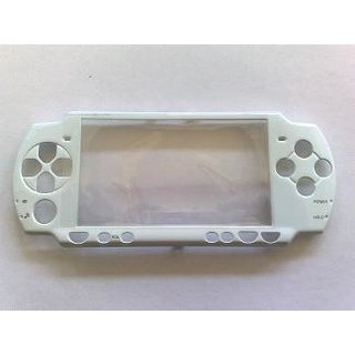 PSP Slim Faceplate / Abdeckung in weiss metallic inkl. Displays.