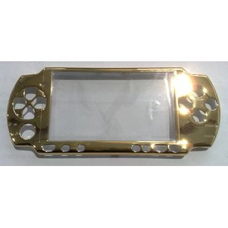 PSP Slim Faceplate / Abdeckung in gold metallic inkl. Displays.