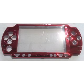 PSP Slim Faceplate / Abdeckung in bordeaux metallic inkl. Displ.