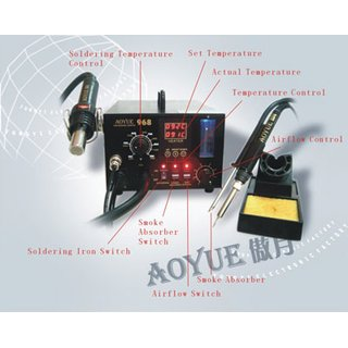 AOYUE 968A Plus 3 in1 SMD Rework Lötstation 500 Watt