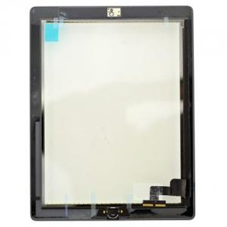 iPad 2 Touch Screen (Digitizer & Glas) + Home Button + Kamera Halterung in schwa