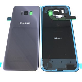 Samsung Galaxy S8 Plus Akkudeckel Battery Cover Grau Violett
