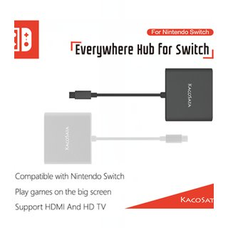 Type C zu HDM Konverter Umwandler USB 3.0 Charging HUB Adapter USB-C Converter for Nintendo Switch
