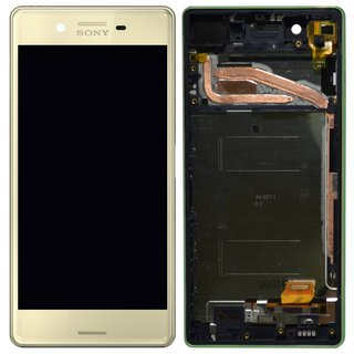 Sony Xperia X LCD Display und Touchscreen mit Rahmen Limette